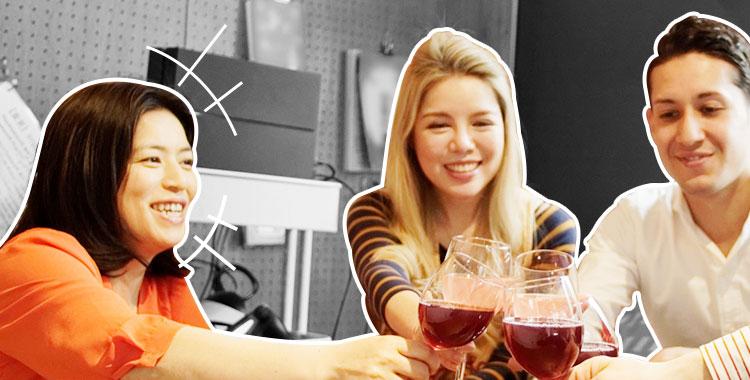 外国人、交流、集まり、乾杯