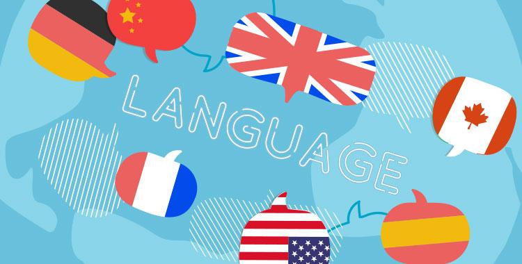 言語、多国籍、国旗、グローバル、第二外国語