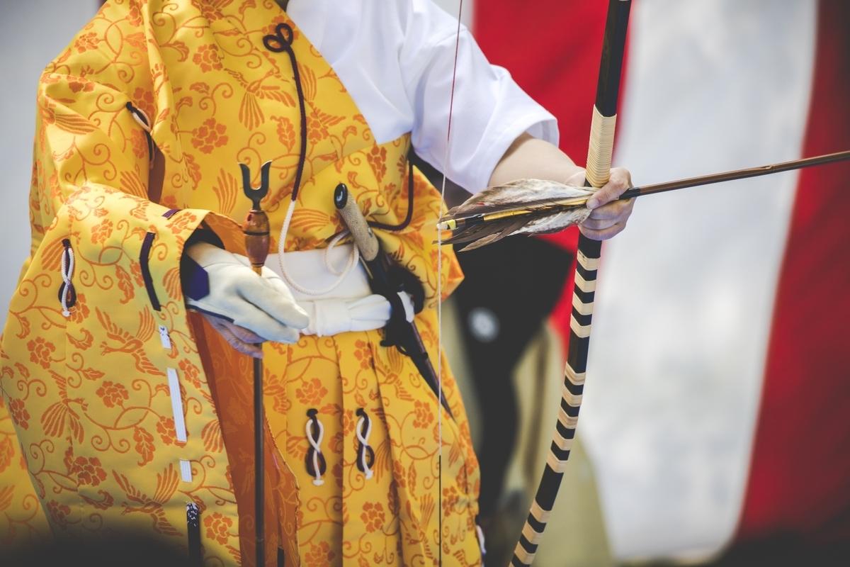 弓道、歴史、袴、祭り