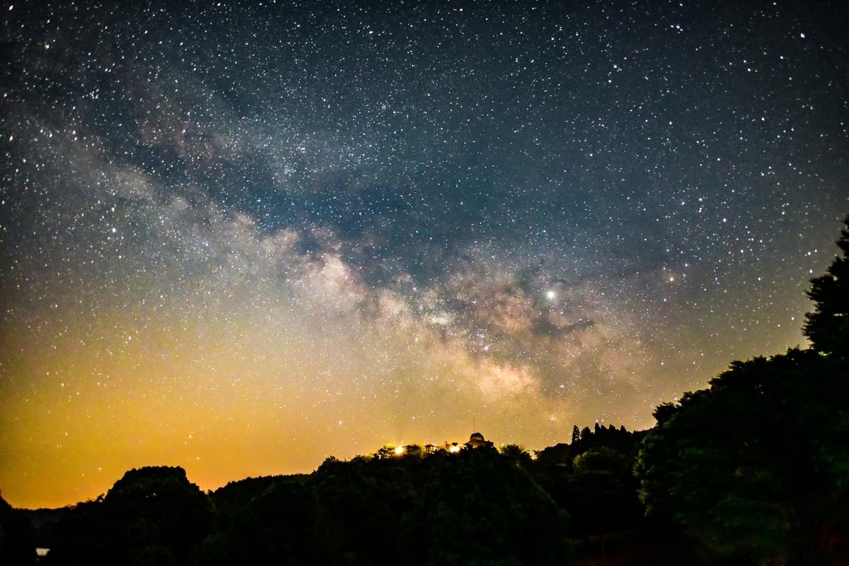 星座、天の川、山、画像、綺麗