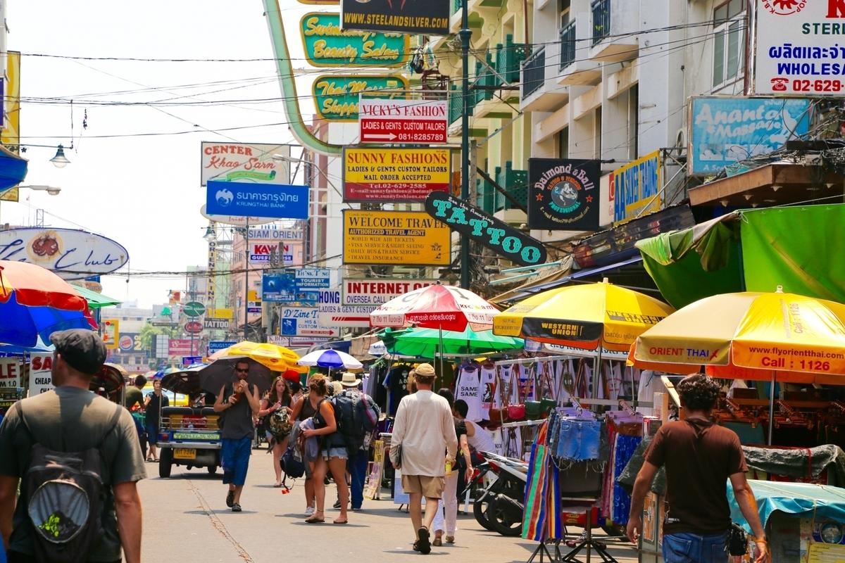 タイ、カオサン通り、屋台