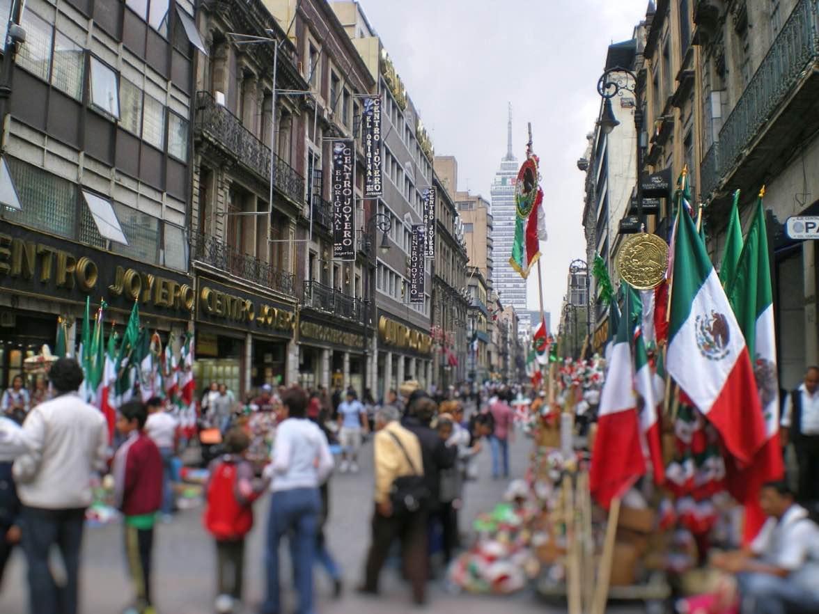 メキシコ、通り、海外、旅行