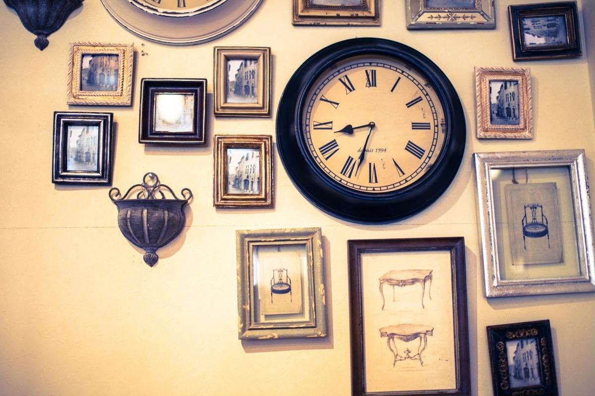 時計、アンティーク、壁、おしゃれ