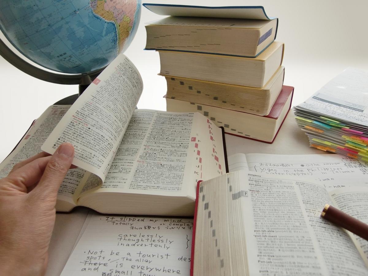 辞書、英語、勉強、単語