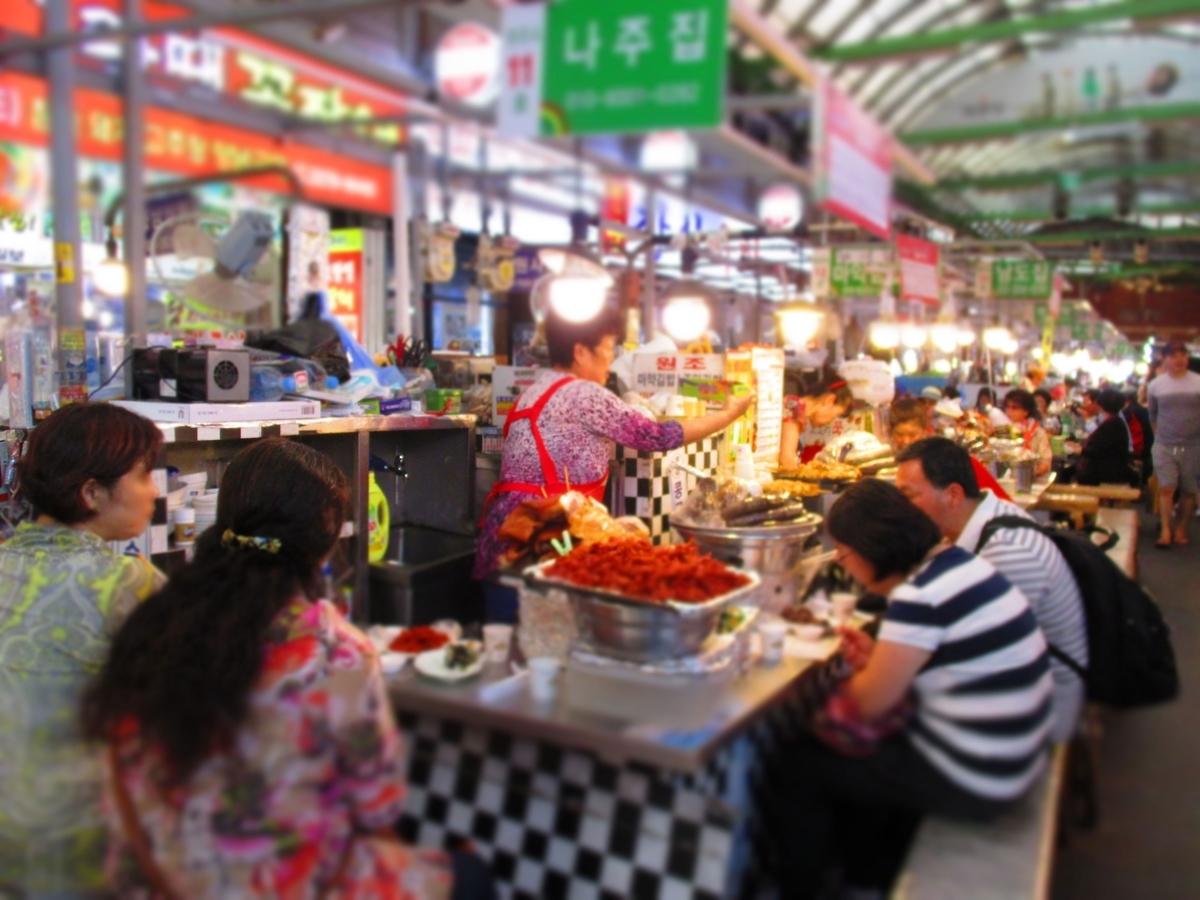 屋台、食べ歩き、お祭り、海外、韓国