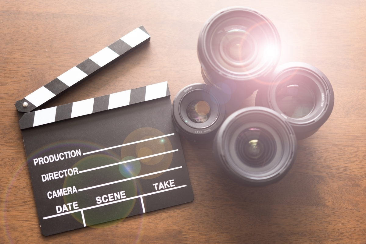 映画館、カメラ、ムービー、映画鑑賞