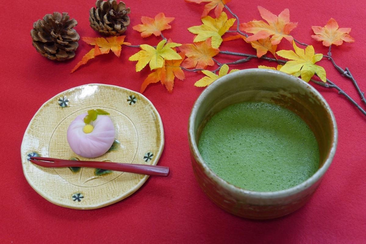 お茶請け、練り切り、抹茶、お茶、茶道
