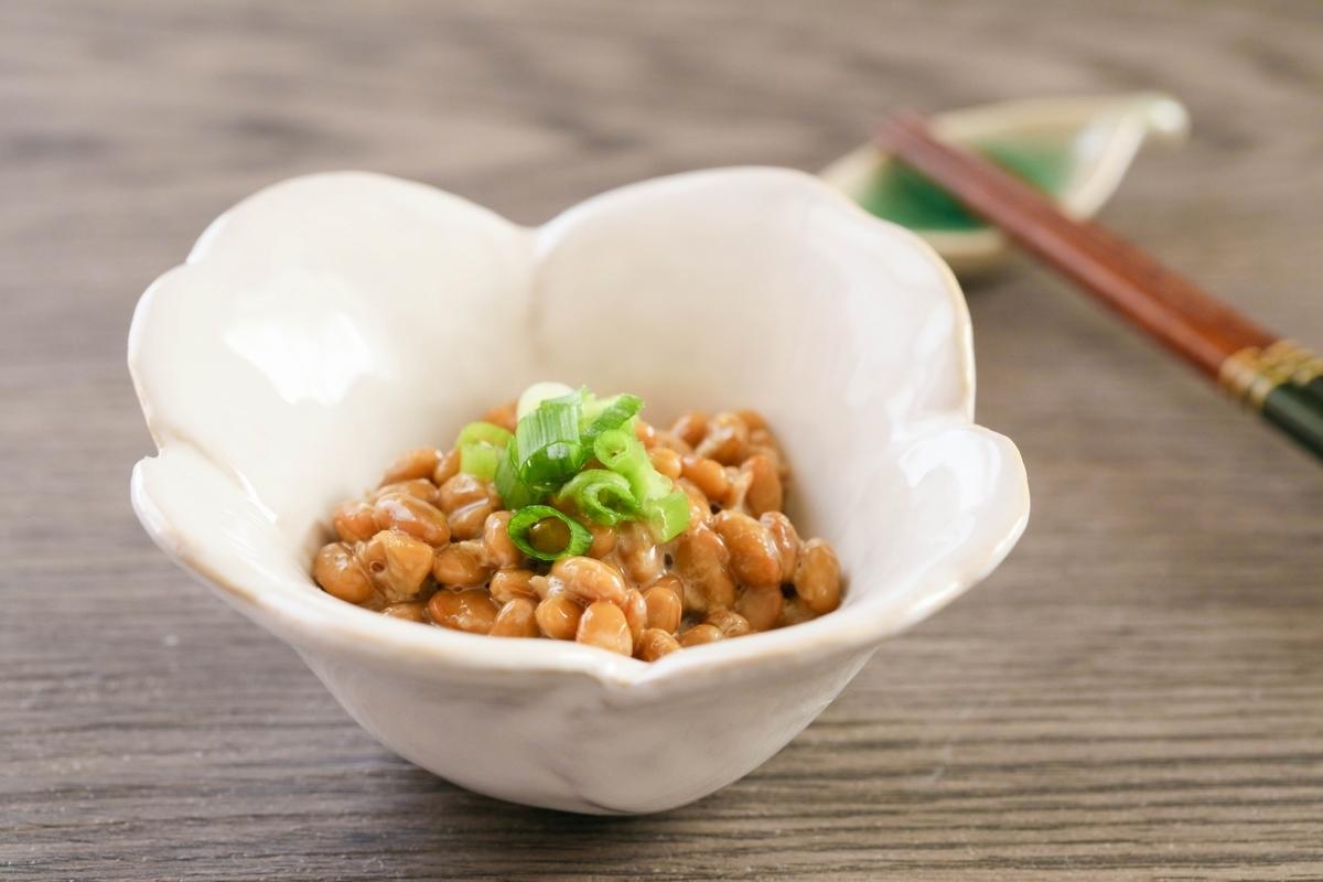 納豆、ねぎ、朝食