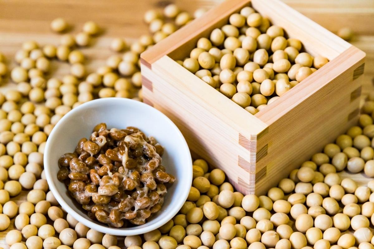 大豆、納豆、健康、朝食