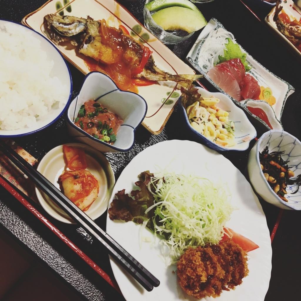 民宿 治五平 晩ご飯