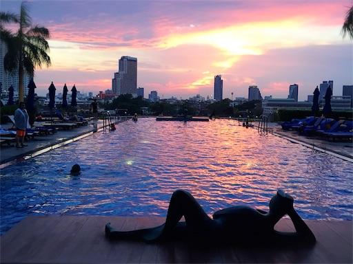 ホテルのプールからの眺め
