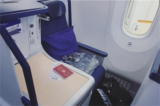 ANA B787-9 business class seat