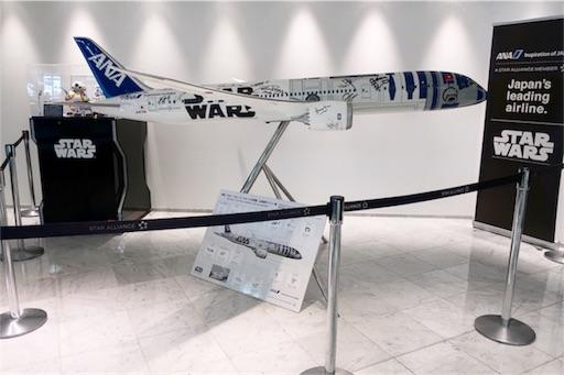 入り口にはスターウォーズの飛行機