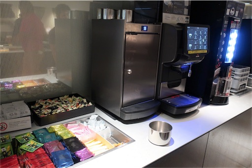 紅茶やコーヒー、ノンカフェインコーヒーも置いていました