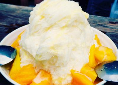 十ふんのマンゴーかき氷