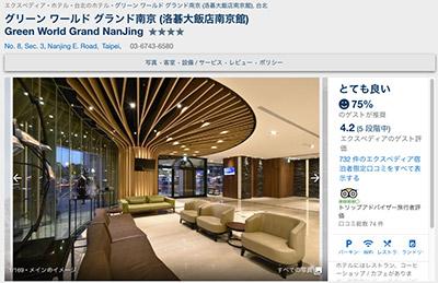 GREEN WORLD HOTEL GRAND NANJING 台湾