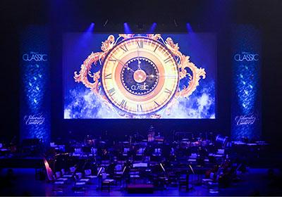 ジルベスターコンサート:カウントダウンの画面