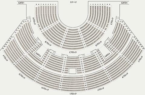 アンフィシアター座席表
