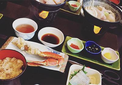 お昼ご飯④蟹とフグのお昼ごはん