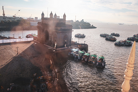 View from Taj Mahal Hotel