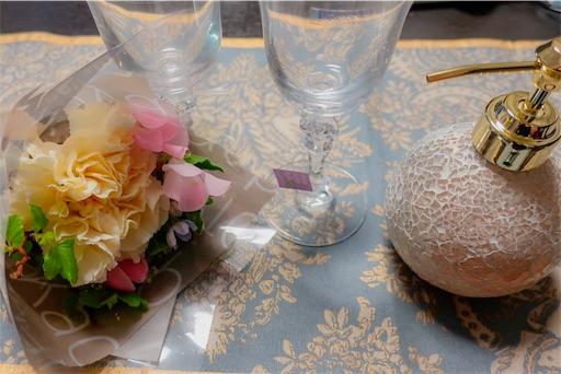 グラス・テーブルランナー・プチブーケ