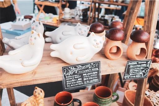 東京蚤の市:猫の置物