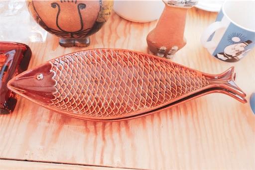 東京蚤の市:魚の皿