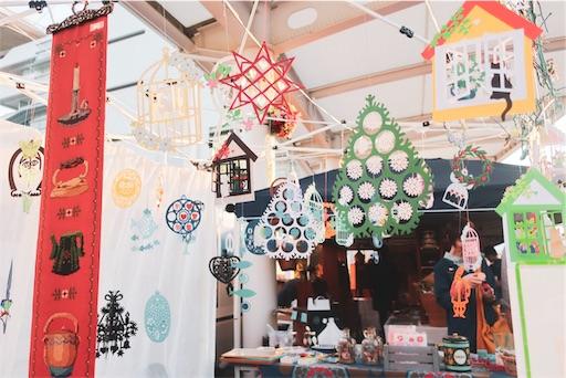 東京蚤の市:紙の飾り