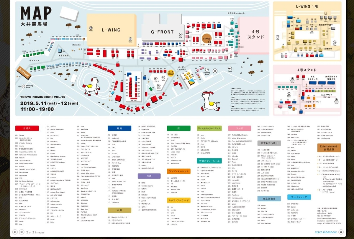 東京蚤の市店舗マップ