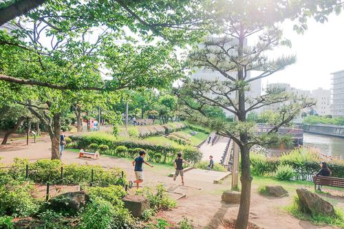 天王洲アイルの公園