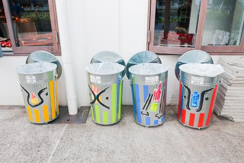 天王洲ハーバーマーケット:ゴミ箱