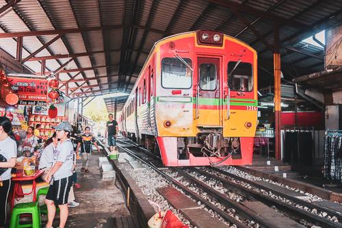 Maeklong Rail Market station