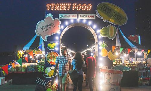 Thai food on the riverside stalls