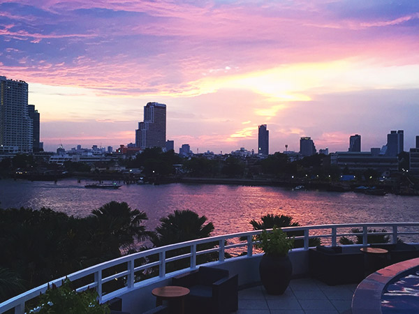 Chao Phraya River at dusk
