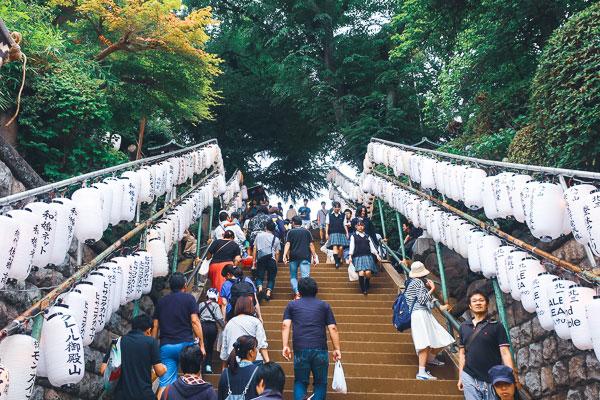 品川神社の階段