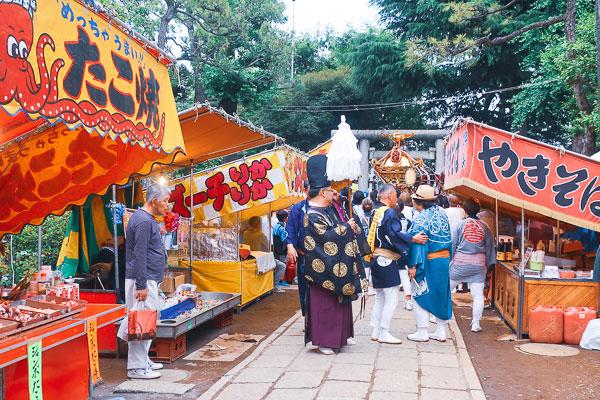 品川神社 例大祭の屋台