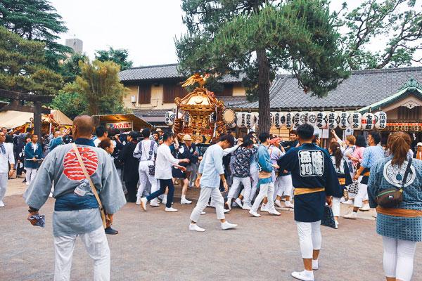 品川神社例大祭のお神輿