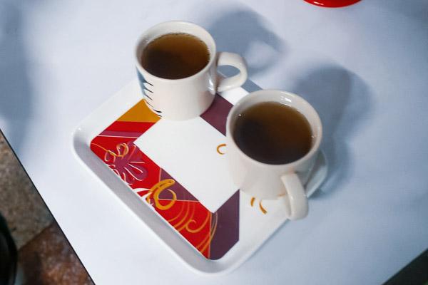 マッサージ後のお茶のサービス