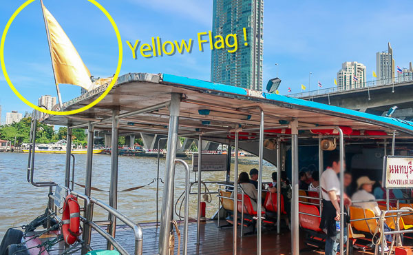 yellow flag boat