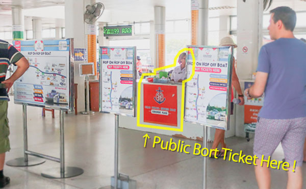 Chao Phraya Express boat ticket place of Sathorn pier