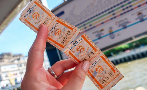 Chao Phraya Express boat ticket