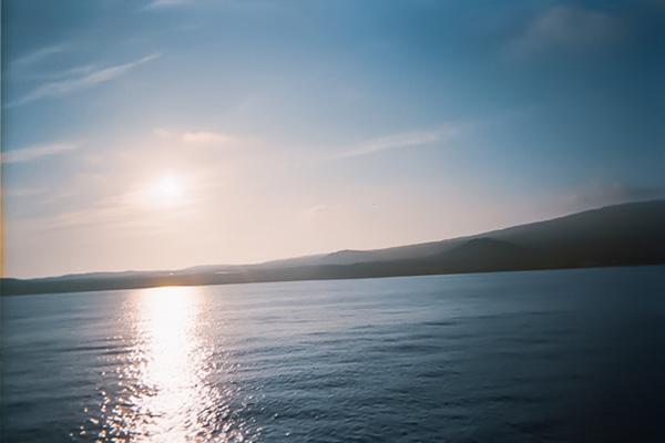 最上デッキから見た大島