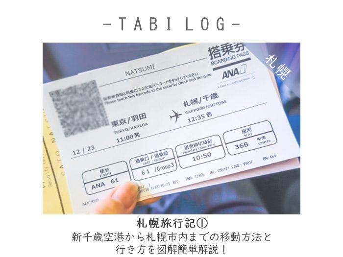 札幌旅行記①新千歳空港から札幌市内までの移動方法と行き方を図解簡単解説!