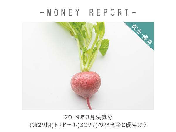 2019年3月決算分 (第29期) トリドール(3097)の配当金と優待は?