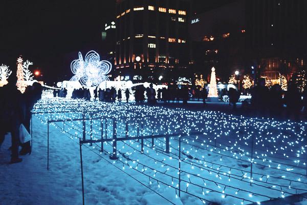 Odori Park illumination