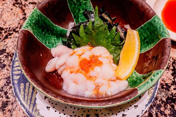 回転寿司『花まる』一品料理 根室産『たちぽん』¥420(税込み¥452)