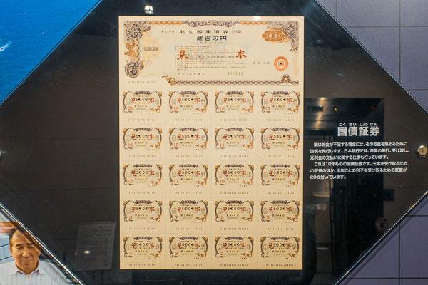 日本銀行旧小樽支店 国債