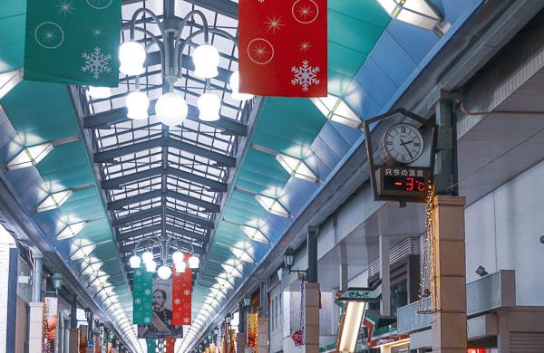 小樽商店街 外気-3度