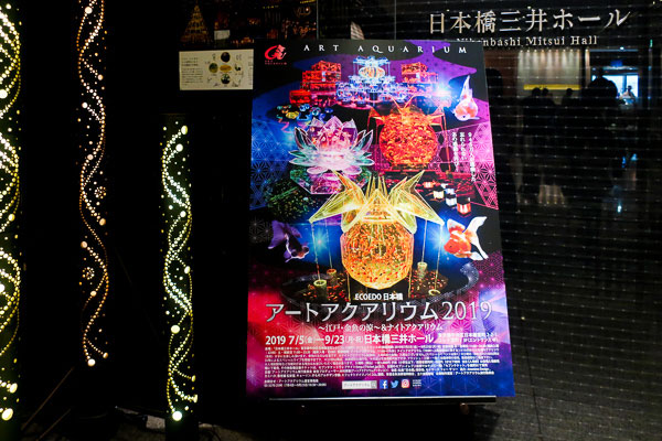 Tokyo Art Aquarium 2019 EDOEDO Nihonbashi entrance