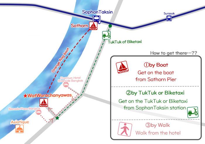 How to get to the cheap massage town 'Wat Worachanyawas'
